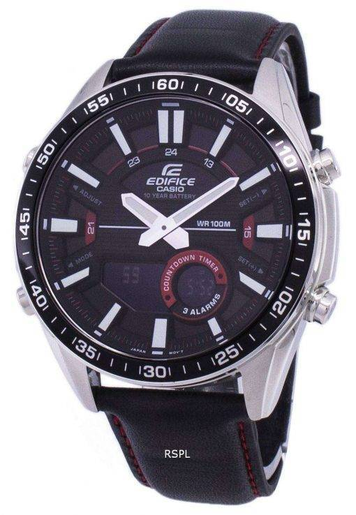 Casio Edifice Alarm Analog Digital Quartz EFVC100L-1AV EFV-C100L-1AV Men's Watch