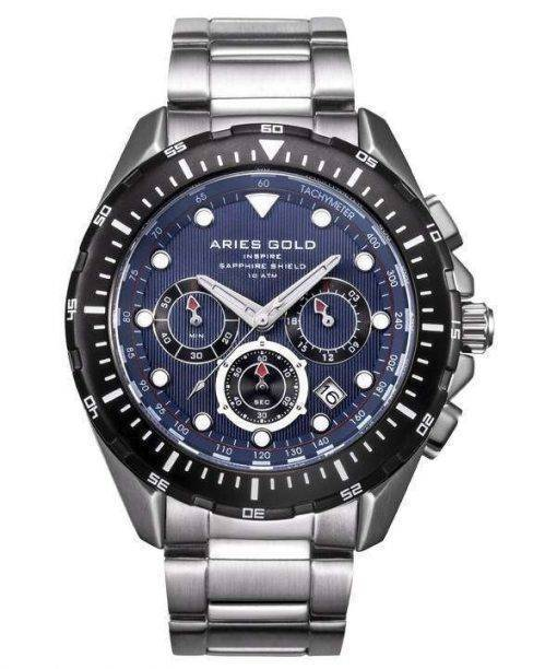 Aries Gold Inspire Atlantic Chronograph Quartz G 7002 SBK-BU Men's Watch