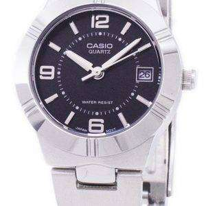 Casio Enticer Analog Quartz Black Dial LTP-1241D-1ADF LTP-1241D-1A Womens Watch