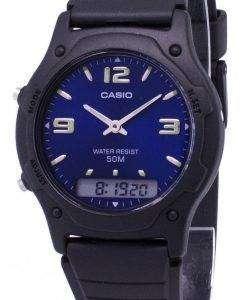 Casio Analog Digital Quartz Dual Time AW-49HE-2AVDF AW-49HE-2AV Mens Watch