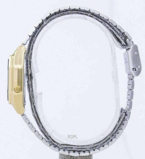 Casio Digital Quartz Stainless Steel Illuminator LA680WGA-1BDF LA680WGA-1B Womens Watch