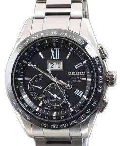 Seiko Astron SBXB137/SSE137 GPS Solar Big-Date Perpetual Calendar Dual Time Men's Watch