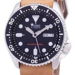 Seiko Automatic SKX007K1-LS18 Diver's 200M Brown Leather Strap Men's Watch