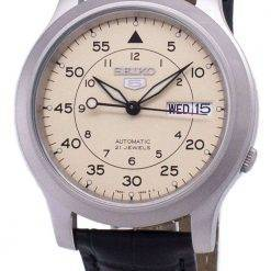 Seiko 5 Military SNK803K2-SS1 Automatic Black Leather Strap Men's Watch