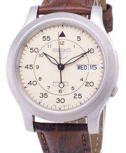 Seiko 5 Military SNK803K2-SS2 Automatic Brown Leather Strap Men's Watch
