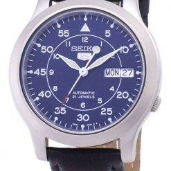 Seiko 5 Military SNK807K2-SS3 Automatic Black Leather Strap Men's Watch