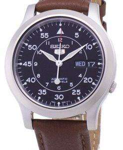 Seiko 5 Military SNK809K2-SS5 Automatic Brown Leather Strap Men's Watch