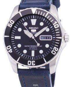 Seiko 5 Sports SNZF17J1-LS13 Automatic Japan Made Dark Blue Strap Men's Watch