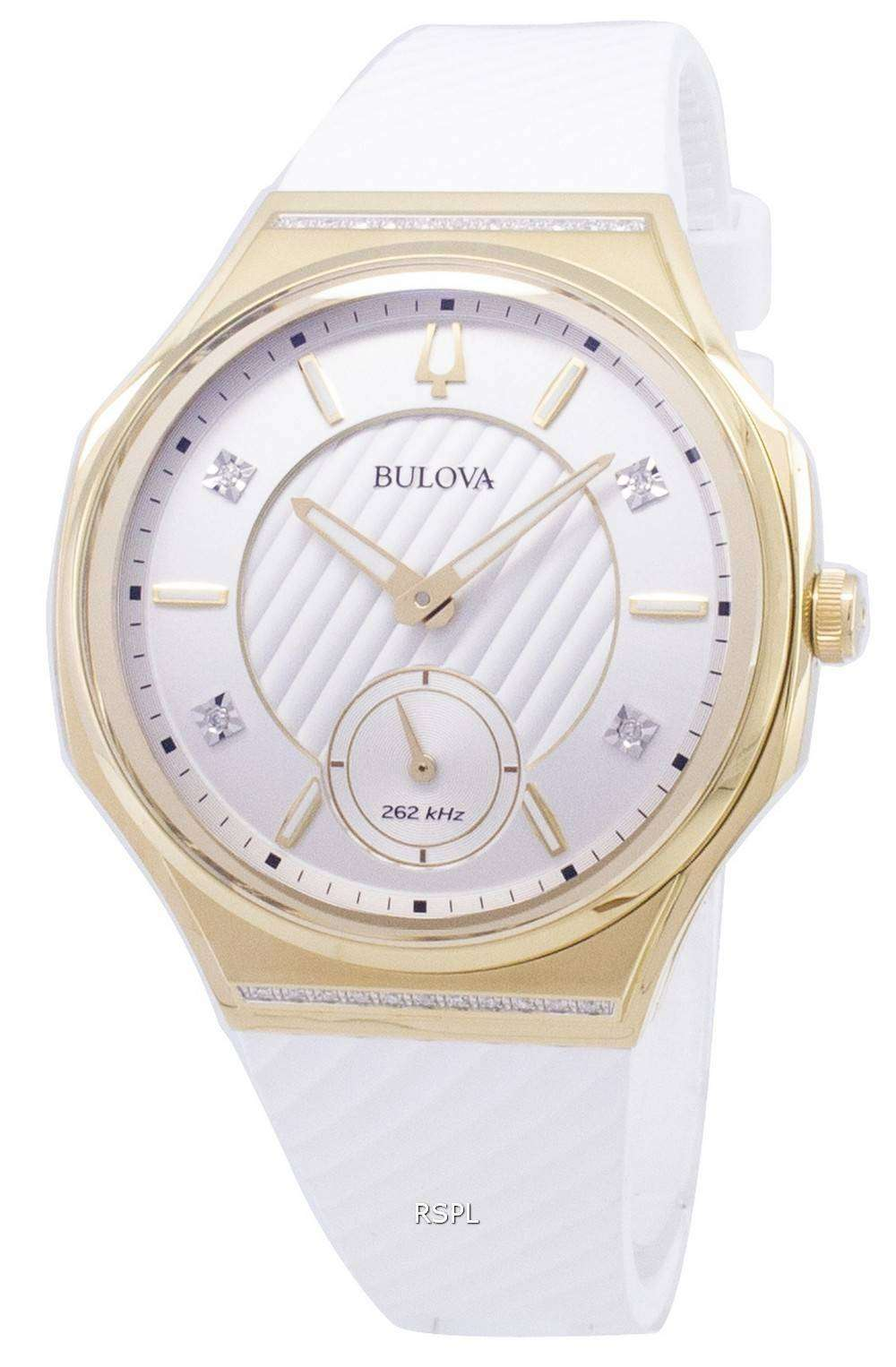 3f26375dc Bulova CURV 98R237 Quartz Diamond Accents Women's Watch