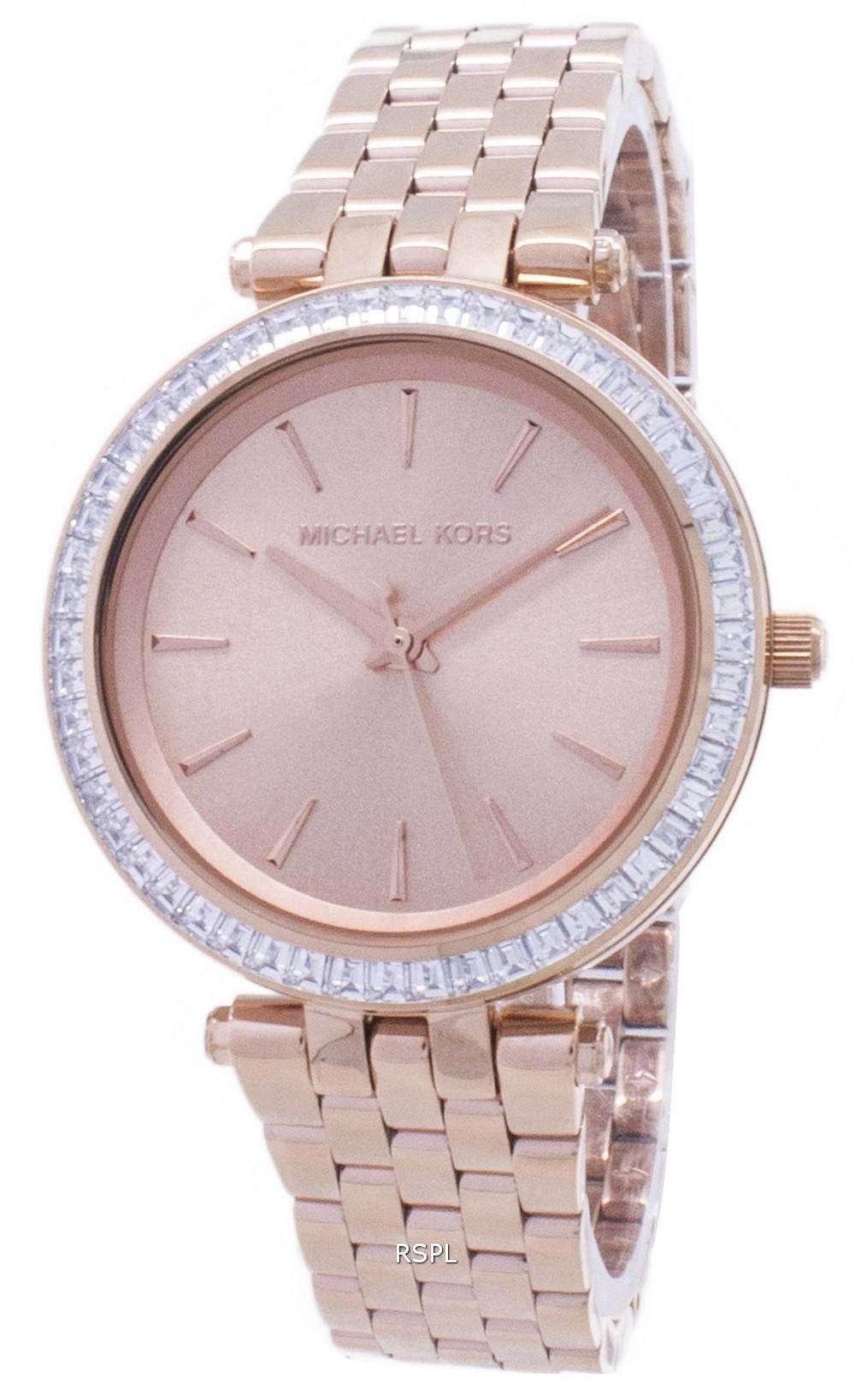 42a049ed8d8e Michael Kors Mini Darci Crystals Rose Gold Tone MK3366 Womens Watch