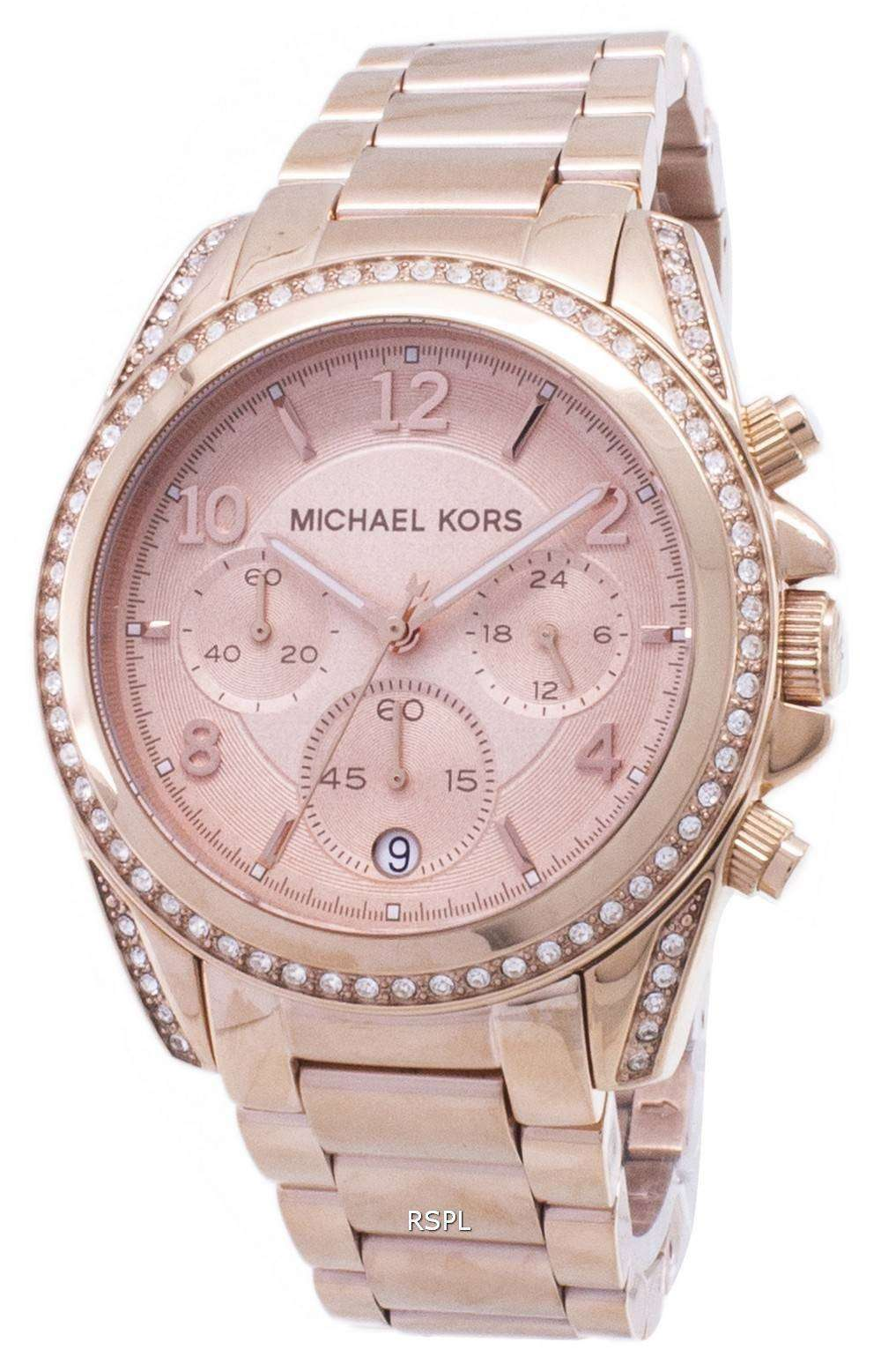 6509138b6f03 Michael Kors Rose Gold Plated Blair Glitz MK5263 Womens Watch