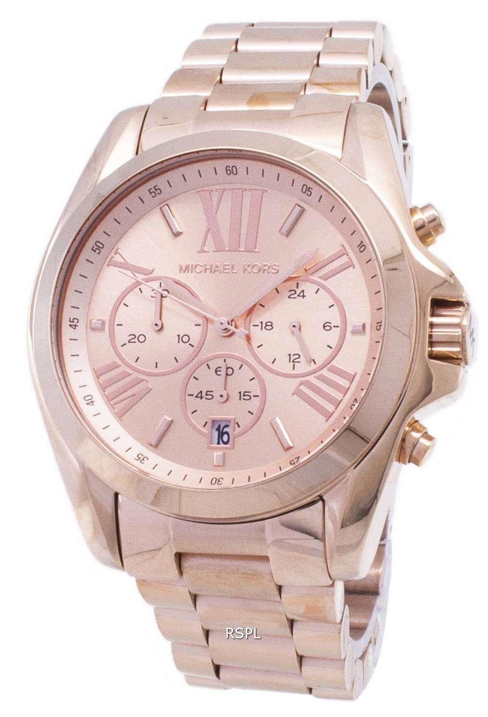 16345c747eee8 Michael Kors Bradshaw Chronograph Rose Gold-tone MK5503 Womens Watch