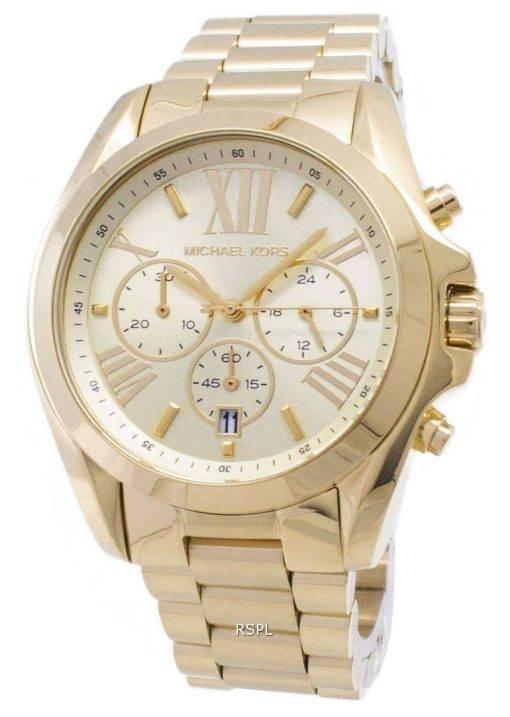 Michael Kors Bradshaw Chronograph Gold-Tone MK5605 Unisex Watch