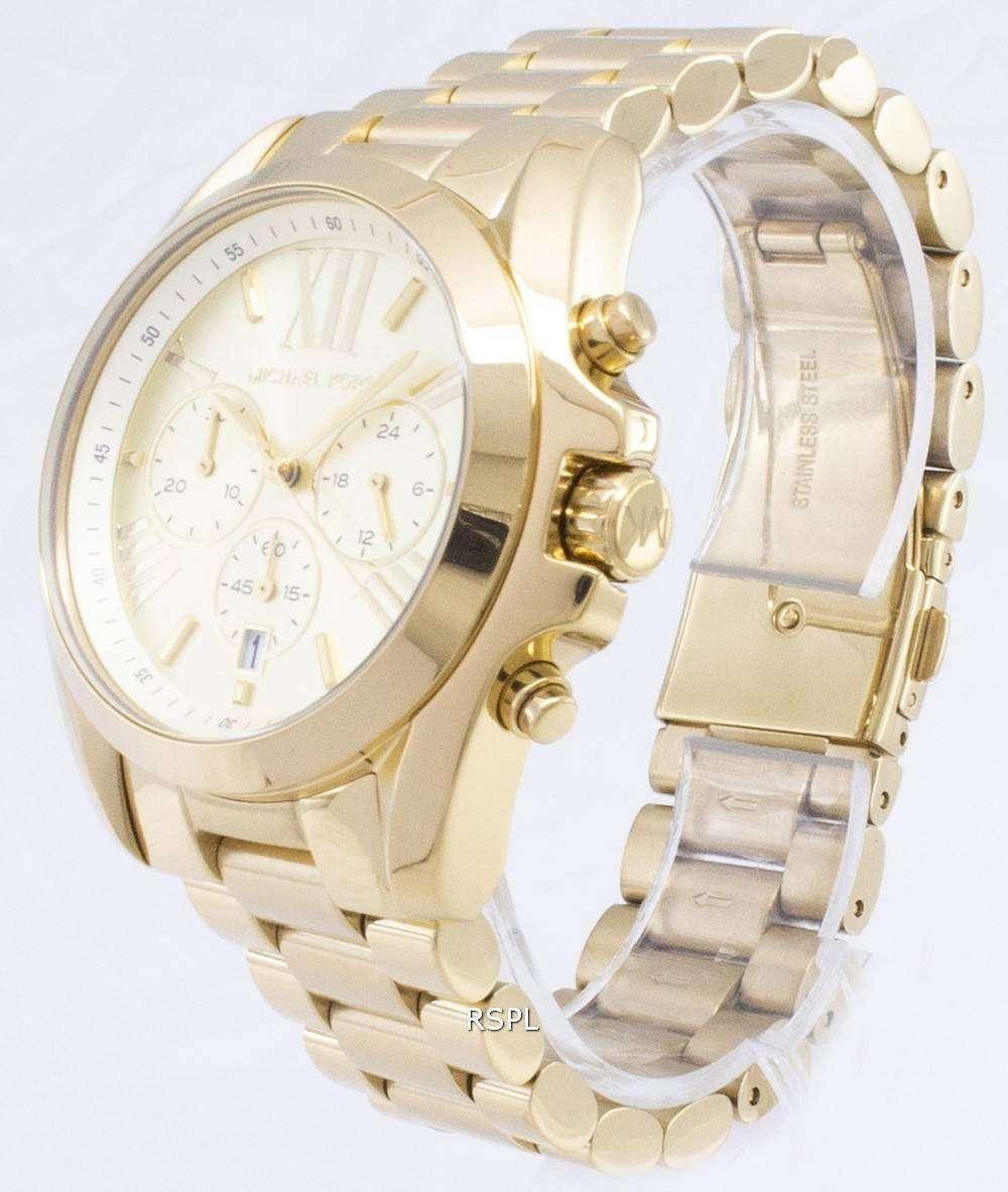 0adf7517e7f9 Michael Kors Bradshaw Chronograph Gold-Tone MK5605 Unisex Watch