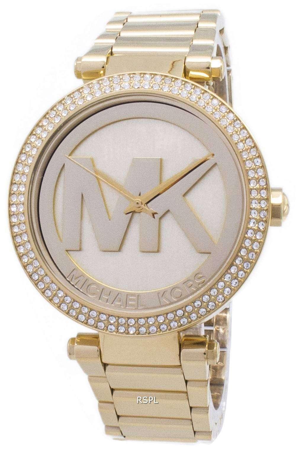a1ef2b7176a0 Michael Kors Parker Crystals MK Logo MK5784 Womens Watch