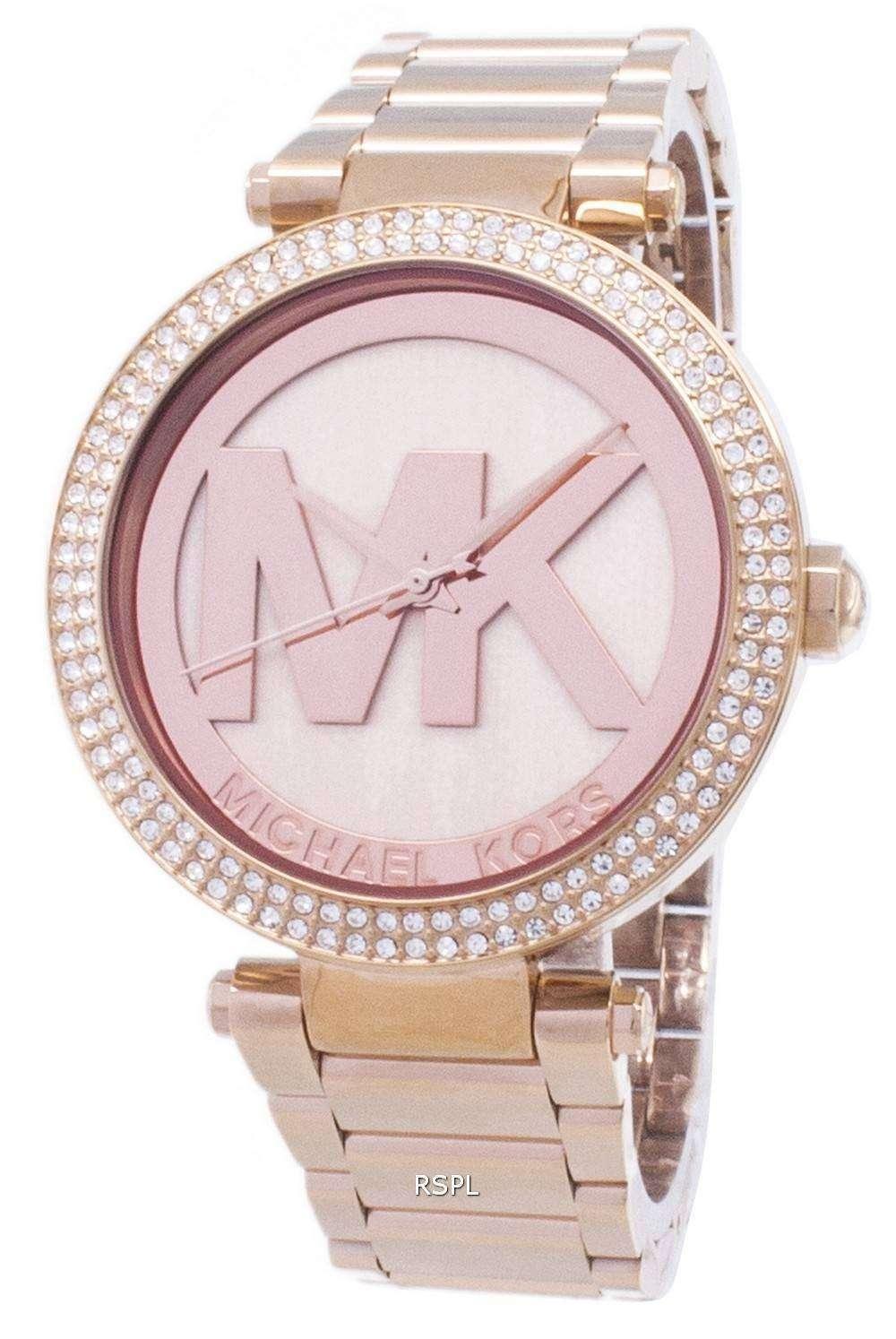 9eed440c7ec0 Michael Kors Parker Crystals MK5865 Womens Watch