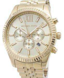 Michael Kors Lexington Chronograph Champagne Dial MK8281 Mens Watch
