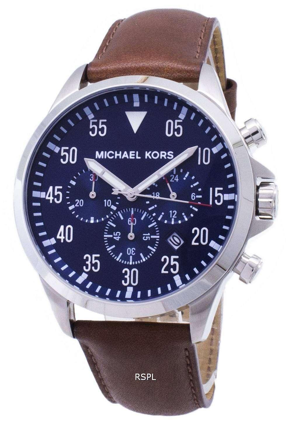 a4b317c7abd8 Michael Kors Gage Chronograph Blue Dial MK8362 Mens Watch