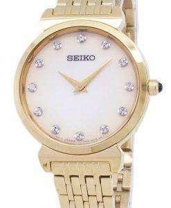 Seiko Quartz SFQ802 SFQ802P1 SFQ802P Diamond Accents Women's Watch