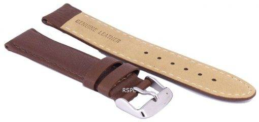Dark Brown Ratio Brand Leather Strap 20mm