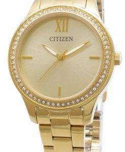 Citizen Quartz EL3082-55P Analog Diamond Accent Women's Watch