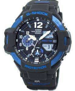 Casio G-Shock GRAVITYMASTER Twin Sensor World Time GA-1100-2B Men's Watch