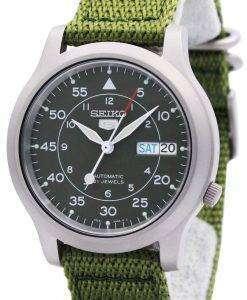 Seiko Automatic Military Nylon Mens Watch SNK805K2