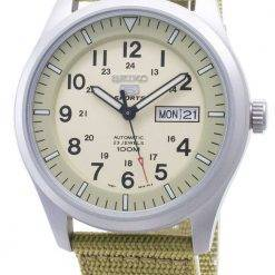 Seiko 5 Sports Automatic SNZG07K1 SNZG07 SNZG07K Military Nylon Strap Mens Watch
