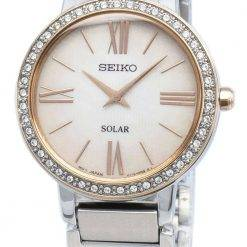 Seiko Conceptual SUP432P SUP432P1 SUP432 Diamond Accents Solar Women's Watch