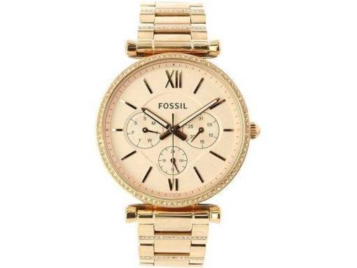 Fossil Carlie ES4542 Diamond Accents Quartz Women's Watch