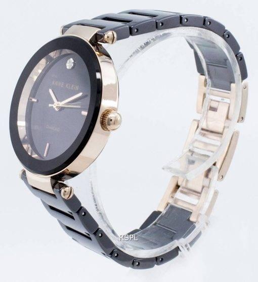 Anne Klein 1018RGBK Diamond Accents Quartz Women's Watch