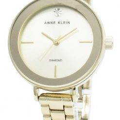 Anne Klein 3386CHGB Diamond Accents Quartz Women's Watch