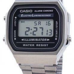 Casio A168WGG-1A Electro-Luminescence Unisex Watch