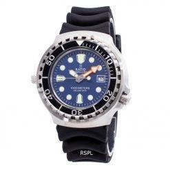 Ratio Free Diver Helium Safe 1000M Sapphire Quartz 1038EF102V-BLU Men's Watch