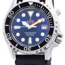 Ratio Free Diver Helium Safe 1000M Stainless Steel Automatic 1066KE20-33VA-BLU Men's Watch