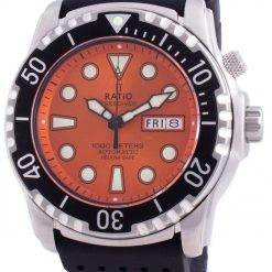 Ratio Free Diver Helium-Safe 1000M Sapphire Automatic 1068HA90-34VA-ORG Men's Watch