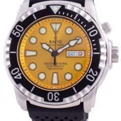 Ratio Free Diver Helium-Safe 1000M Sapphire Automatic 1068HA90-34VA-YLW Men's Watch