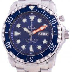 Ratio Free Diver Helium-Safe 1000M Sapphire Automatic 1068HA96-34VA-BLU Men's Watch