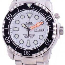 Ratio Free Diver Helium-Safe 1000M Sapphire Automatic 1068HA96-34VA-WHT Men's Watch