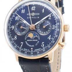 Zeppelin Hindenburg LZ129 7039-3 70393 Moon Phase Quartz Men's Watch