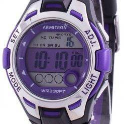 Armitron Sport 457030PUR Quartz Dual Time Women's Watch