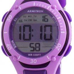 Armitron Sport 457062PUR Quartz Dual Time Women's Watch