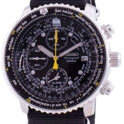 Seiko Pilot's Flight SNA411P1-VAR-NATO4 Quartz Chronograph 200M Men's Watch