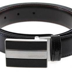 Montblanc 112962 Meisterstuck Reversible Black/Brown Men's Leather Belt
