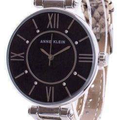 Anne Klein Swarovski Crystal Accented 3229BKCR Quartz Women's Watch