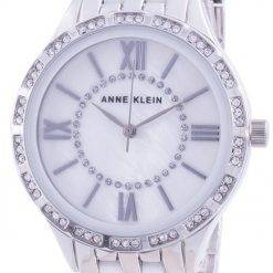 Anne Klein Swarovski Crystal Accented 3549WTSV Quartz Women's Watch