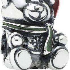 PANDORA 791391ENMX Christmas Bear Women's Charm