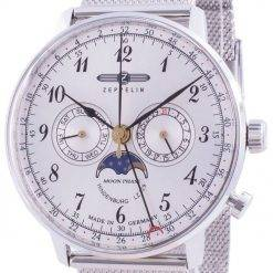 Zeppelin Hindenburg LZ129 7036M-1 7036M1 Quartz Moon Phase Men's Watch