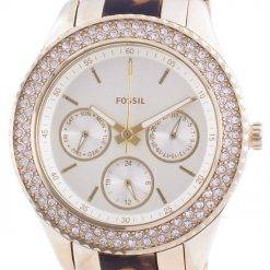 Fossil Stella Multifunction ES4756 Quartz Chronograph Diamond Accents Women's Watch