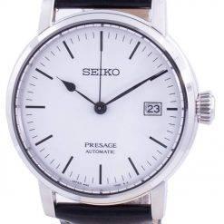 Seiko Presage Riki Watanabe Automatic White Enamel SPB113 SPB113J1 SPB113J Japan Made 100M Men's Watch
